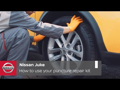 Nissan Juke Tutorial: How to use your puncture repair kit
