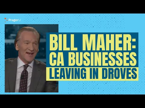 Bill Maher: CA businesses leaving in droves