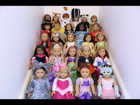 Dressing All My American Girl Dolls For Halloween 2015! HD!