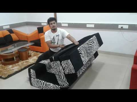 Foldable And Washable Sofa Cum Bed Only For 9999/- thumbnail