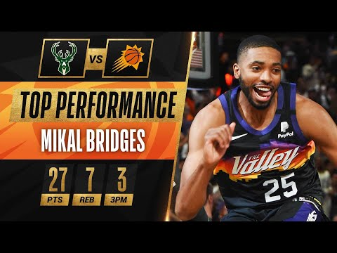 Mikal Bridges PIVOTAL PLAYOFF CAREER-HIGH 27 PTS in Game 2 W! 🔥