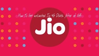 How To Get Full Jio 4G Data speed After Usage of 1GB daily -Must watch
