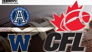Toronto Argonauts vs Winnipeg Blue Bombers Preview CFL Week 4 Picks with Peter Loshak