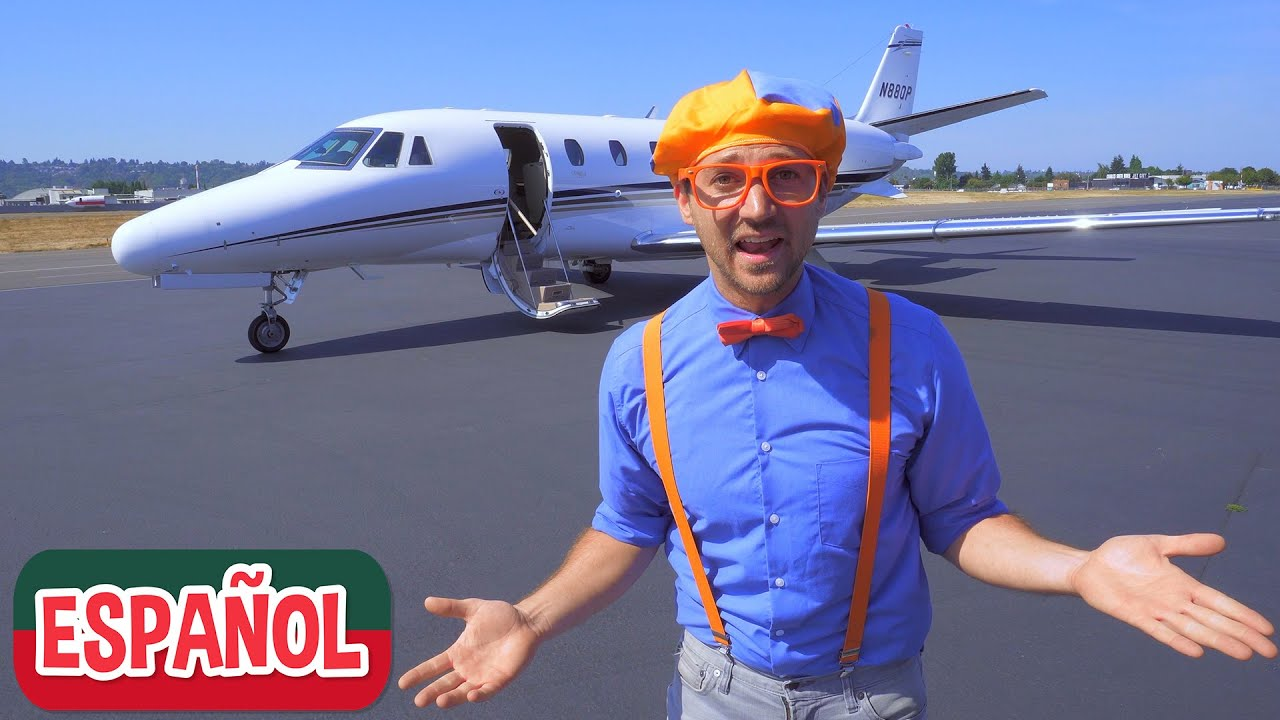 Blippi explora un avión privado | Nuevo Video! | Videos Educativos para Niños
