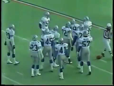 Seattle Seahawks vs Chicago Bears 1987 Week 15