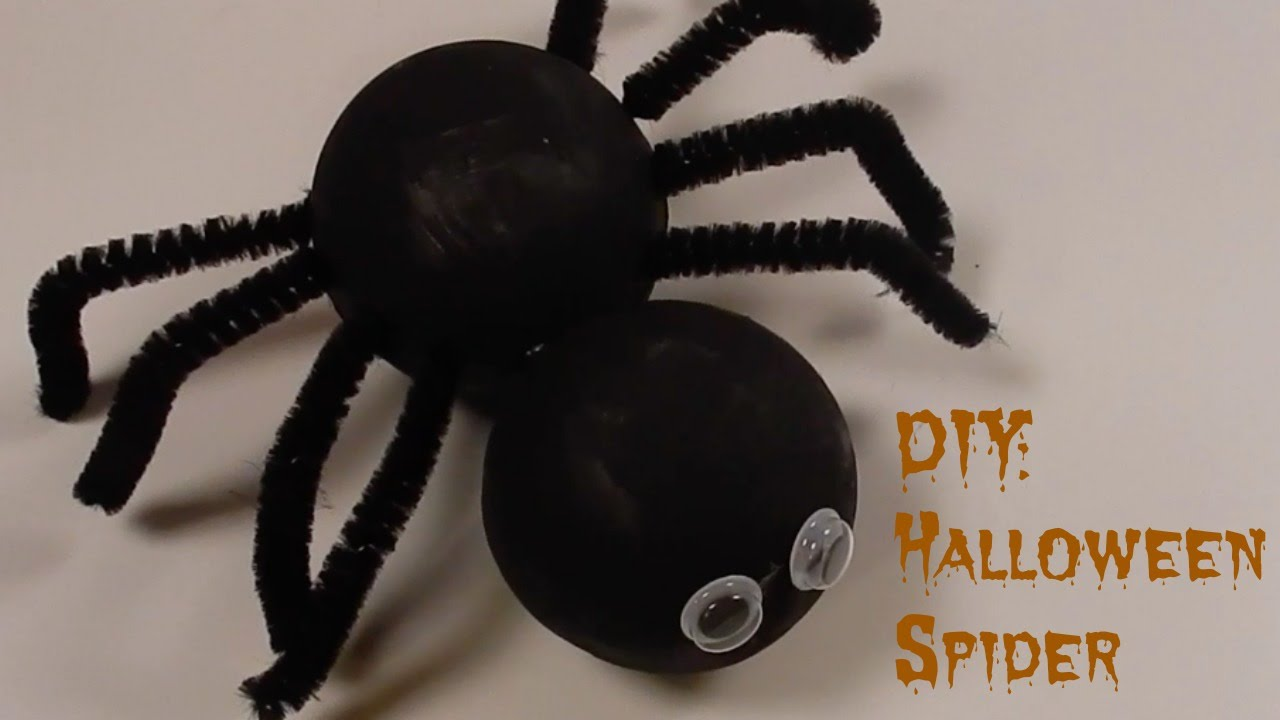 diy: halloween styrofoam spider - youtube