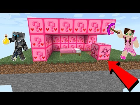 Minecraft: CRAZY PINK LUCKY BLOCK BEDWARS! - Modded Mini-Game