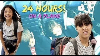 24 Hours OVERNIGHT on a PLANE!