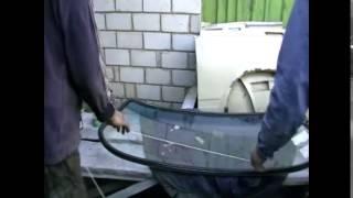 видео Замена заднего стекла ваз