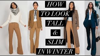 How to look Taller & Slimmer | Petite Tips for Layering Winter Outfits | Maria Teresa Lopez