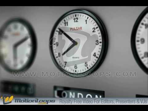 Worldwide clock animation, Global Times motionloop