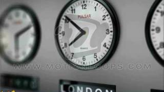 Worldwide clock animation, Global Times motionloop