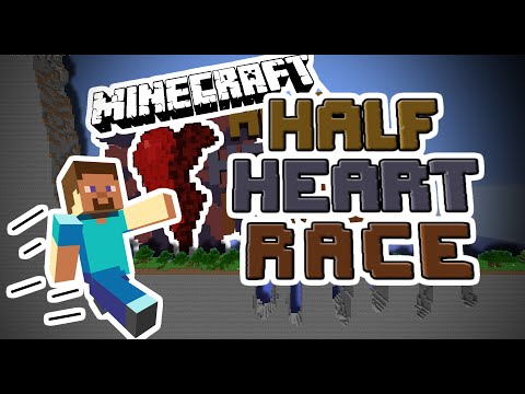 Minecraft: HALF HEART RACE (Minecraft Custom Map)