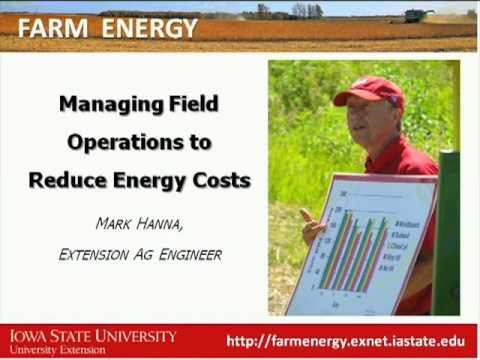 Managing Field Operations to Reduce Energy Costs