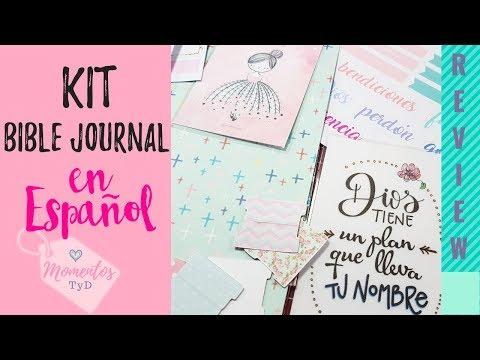 Kit Bible Journal Amalia Papers (Alternativa en Chile) que usar biblejournaling en Español