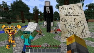 SLENDERMAN APPEARS WHILST MC NAVEED AND MARK FRIENDLY ZOMBIE ARE CAMPING MOD !! Minecraft thumbnail