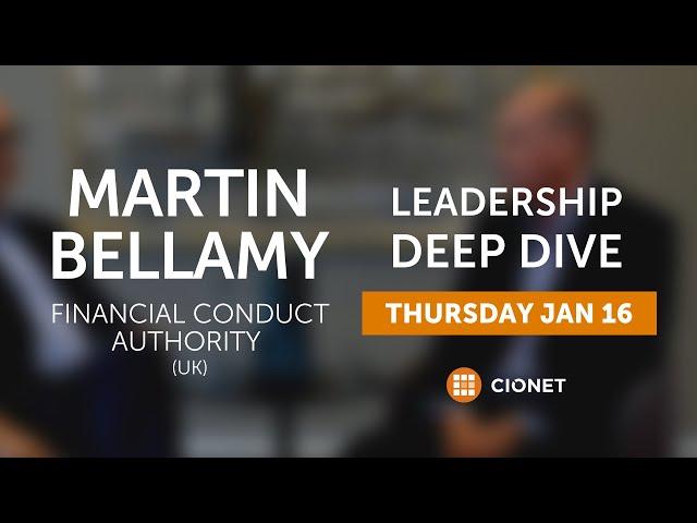 Thu Jan 16th – Martin Bellamy – CIO of FCA (UK)