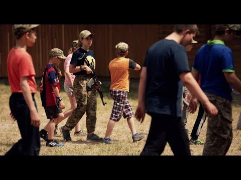 Blindfolded Rifle Assembly At The Azov Battalion's Summer Camp For Kids