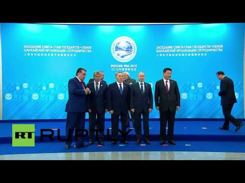 Russia: SCO leaders wave for the cameras in Ufa