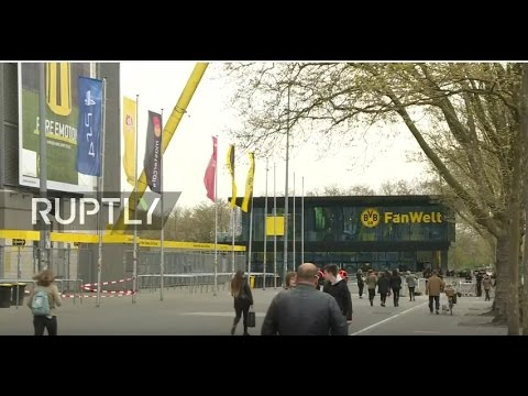 LIVE outside Borussia Dortmund's stadium day after blasts hit team bus
