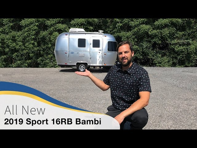 2019 Airstream Sport 16RB Bambi Walk Through Travel Trailer Small Light Weight Caravan Camper