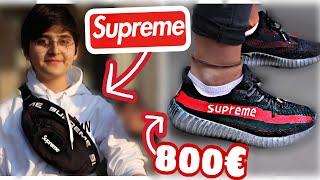 DER SUPREME YEEZY FÜR 800€ 😱🔥💸 | WIE VIEL IST DEIN OUTFIT WERT  😱🔥 | STREET UMFRAGE | MAHAN