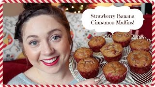 Diy Strawberry Banana Cinnamon Muffins! ❄holidamy Day 3❄