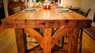 Dining Room Table from CNC Milled Logs - pt. 3/3