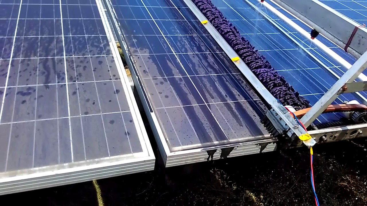 Automatic Solar Panel Dust Cleaning Robot Youtube
