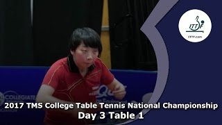 2017 TMS College Table Tennis National Championships (Table 1) - Day 3