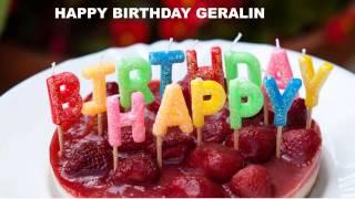 Geralin   Cakes Pasteles - Happy Birthday