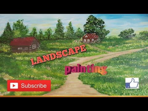 Acrylic painting landscape #landscapepainting #howntopaintlandscape