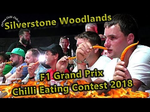 Chilli Eating Contest Silverstone Woodlands F1 Grand Prix Weekend July 2018