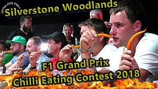 Chili Eating Contest Silverstone Woodlands F1 Grand Prix Weekend July 2018