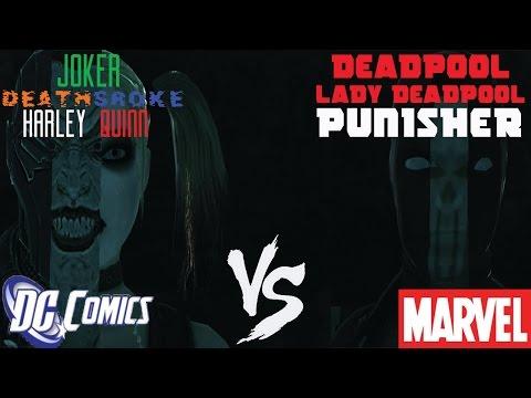 GTA IV:Marvel Vs DC (Deadpool,Punisher,Lady Deadpool Vs Deathstroke,Joker,Harley Quinn)