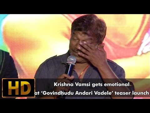 Krishna Vamsi gets emotional at GAV teaser launch || Govindudu Andarivadele Mp3