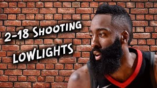 James Harden 2-18 Shooting - Lowlights - Timberwolves vs Rockets - Game 2 | 2018 NBA Playoffs
