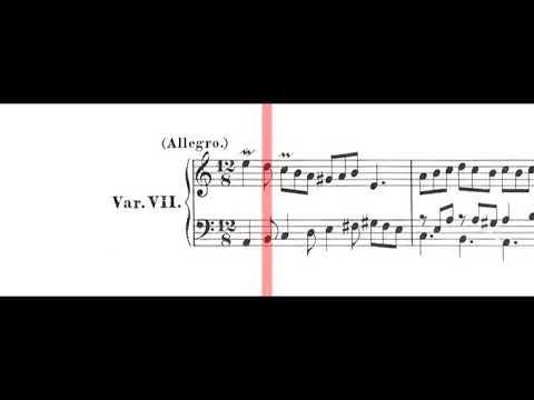 BWV 989: Aria Variata Alla Maniera Italiana (Scrolling)