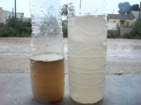 Water contaminated of rain