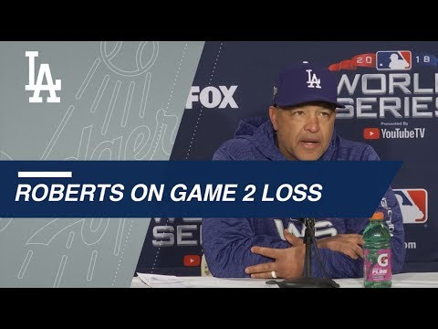 WS2018 Gm2: Roberts on lack of offense in 4-2 loss