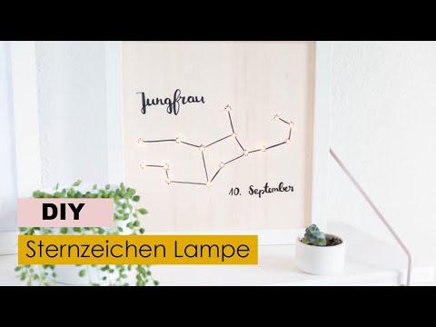 ⭐️DIY Sternzeichen Lampe Mit Lichterkette Basteln | DIY Deko