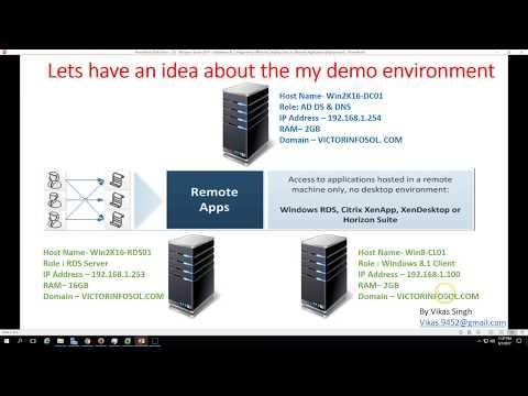 18 - Windows Server 2016 - Installation & Configuration of Remote Desktop Services Remote Applicatio