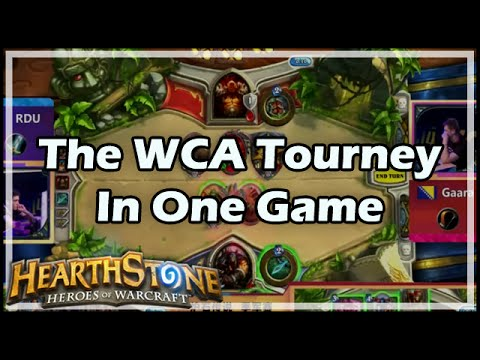 [Hearthstone] The WCA Tourney In One Game (Kripp & Amaz Cast)