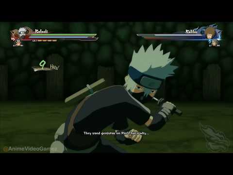 Naruto Storm 4: Rin,Kakashi And Obito Vs Rock Ninjas Full Boss Battle (English Sub)