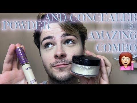 Makeup Review: Tarte Shape Tape + Laura Mercier Powder Combo! ALL DAY LONG WEAR TEST!💥