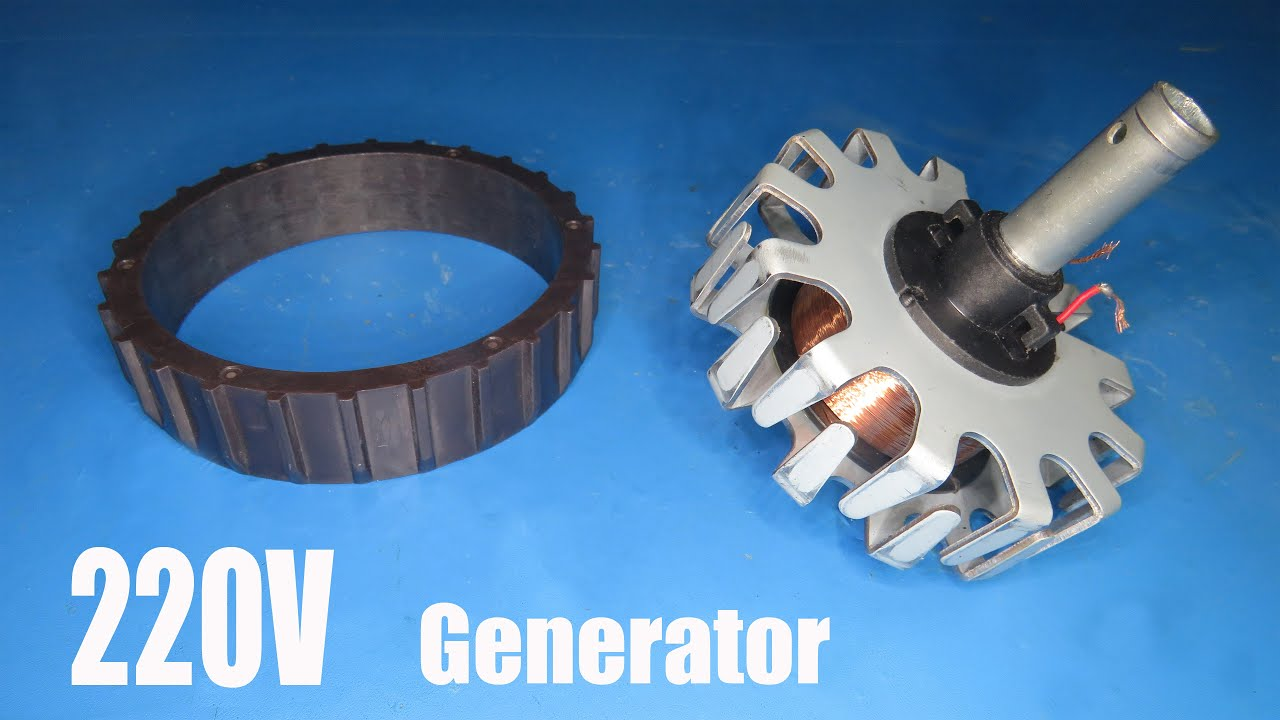 220V AC Generator Test and Review - YouTube