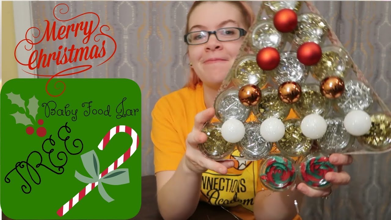 Diy Baby Food Jar Christmas Tree Youtube