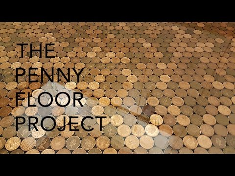 UK Penny Floor Project  Using 27000 1 penny coins and