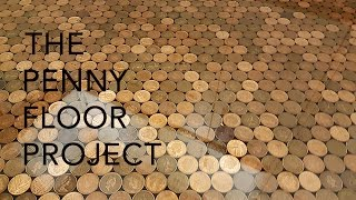 Can you imagine this Kitchen floor is made out of 27,000 pennies