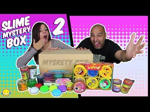 SLIME MYSTERY BOX 2!! caja misteriosa con Mega Haul de Slime!! Unboxing de Slimes con Jordi y Bego!!
